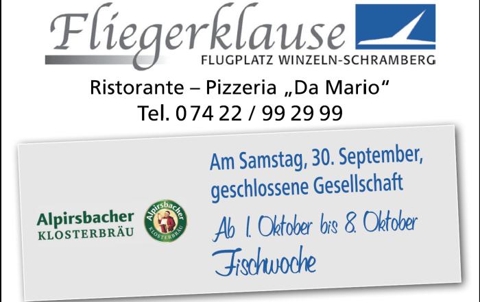 Fliegerklause-Fischwoche 2017
