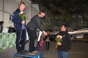 Die Gewinner Katharina von Podewils und Joachim Schwenk bei der Preisverleihung.