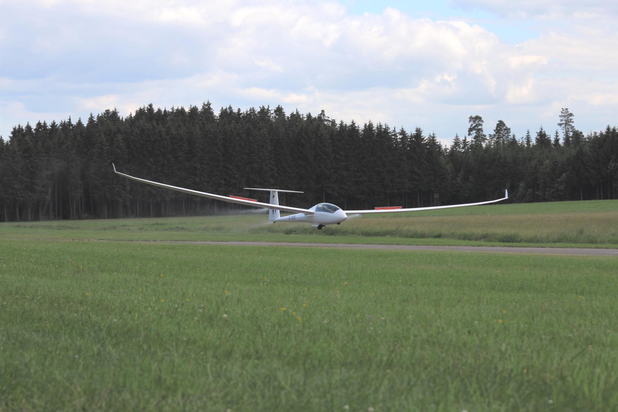 Landung nach einem erfolgreichen Wochenende