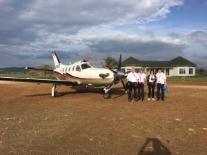 Die TBM Crew komplett: v.l.n.r.: Stefan und Sabine Krauss, Erika und Hardy Zwosta